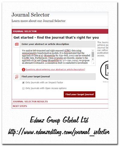 edanz journal selector