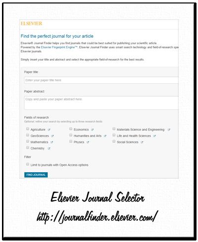 elsevier - journal finder